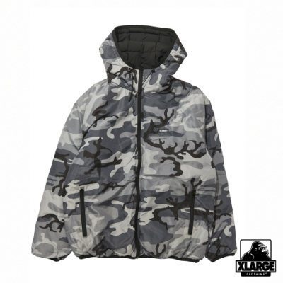 XLARGE REVERSIBLE HOODED CAMO JACKET雙面連帽外套-黑