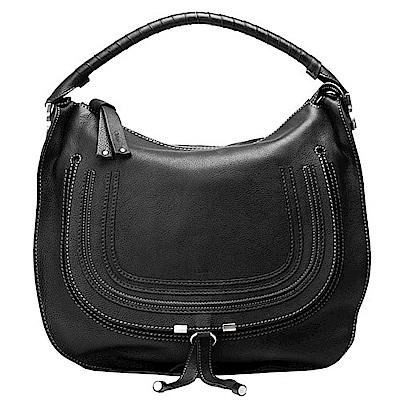 CHLOE 經典Marcie Large Bag小牛皮單把手提/肩背包(黑-大)
