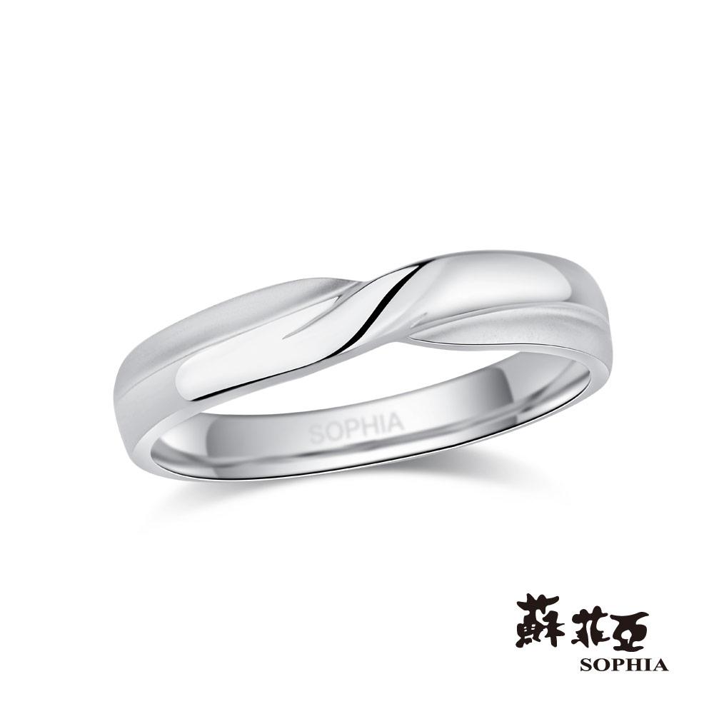 蘇菲亞SOPHIA 鉑金戒指-同心結鉑金鑽石男戒
