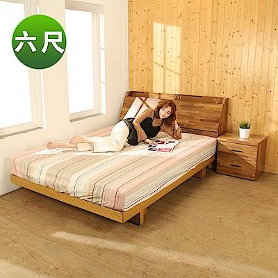 BuyJM拼接木系列雙人加大6尺2件式房間組(床頭箱+日式床底)-免組