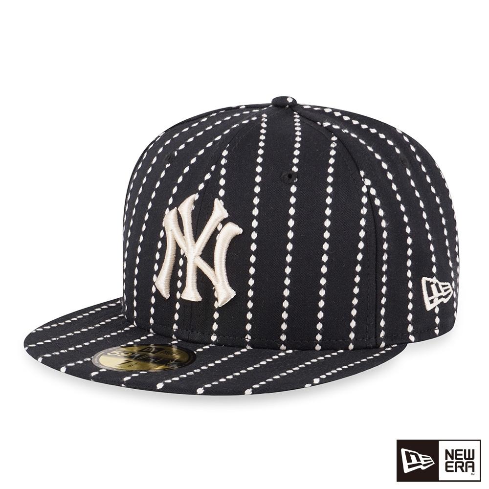 NEW ERA 59FIFTY 5950 WORK STITCH 洋基 黑 棒球帽