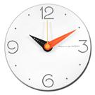 12吋 三色指針 數字時標 居家擺飾 輕薄簡約 北歐風 無印風 靜音 圓掛鐘 - 白橘色