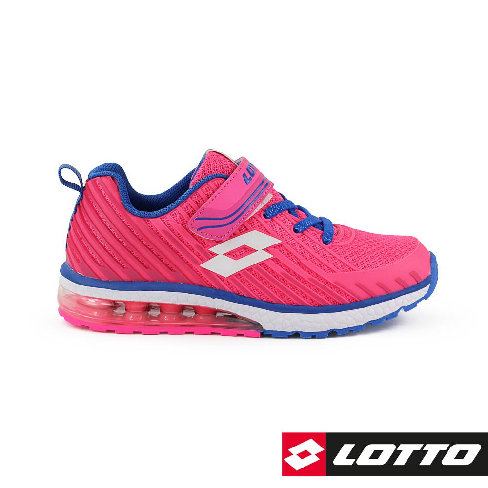 LOTTO 義大利 童 疾風 KPU氣墊跑鞋 (粉桃)