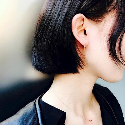 梨花HaNA 韓國925銀金系極簡繞線耳環