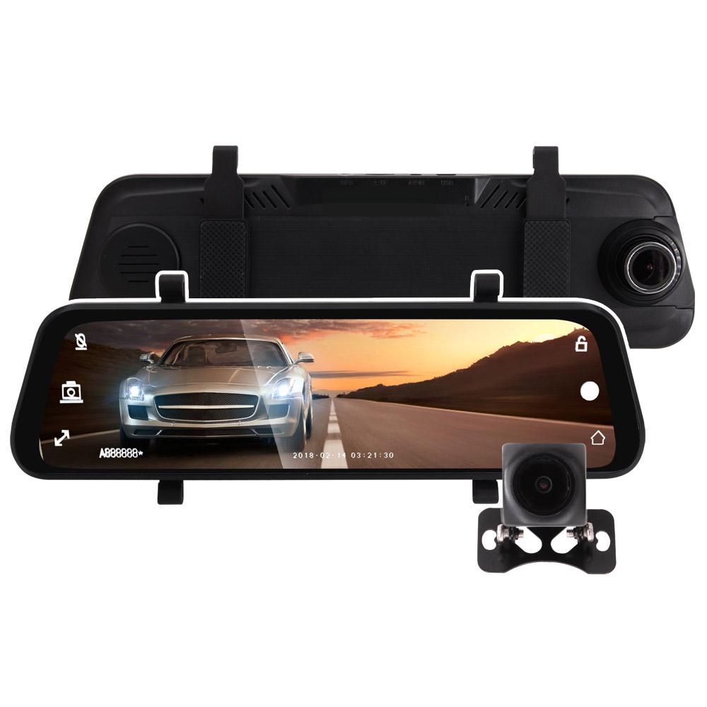 周末下殺+32GB卡↘IS愛思 RV-18XW 全螢幕電子式後視鏡雙1080P行車記錄器