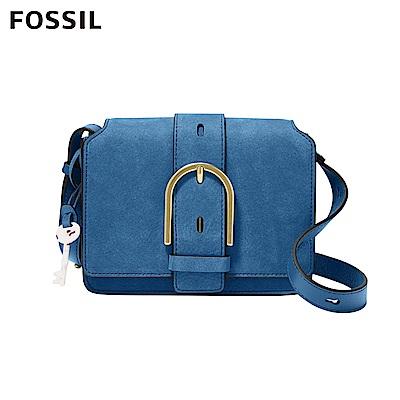 FOSSIL 母親節優惠 WILEY 時尚英式學院風格真皮小包-藍色 ZB7961965