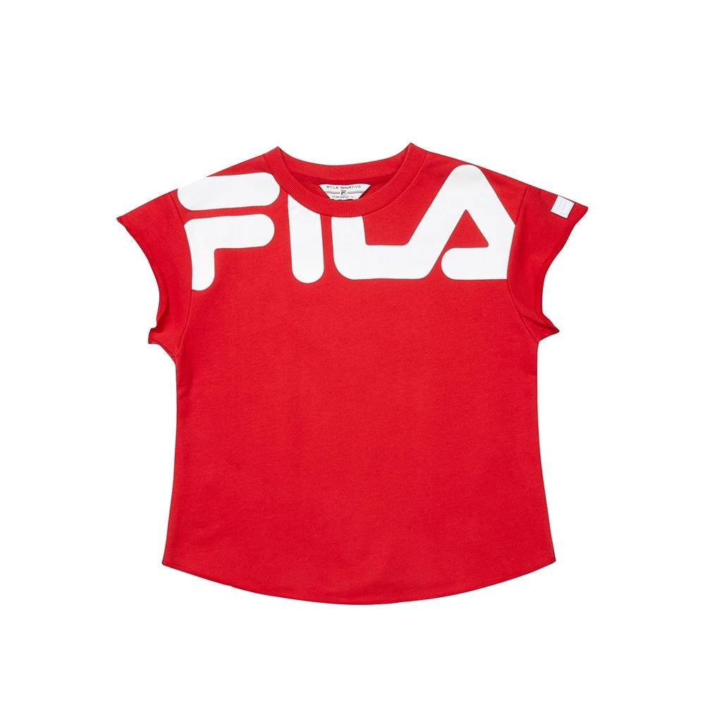FILA #日潮攻略首部曲 短袖圓領T恤-紅色 5TEU-1421-RD