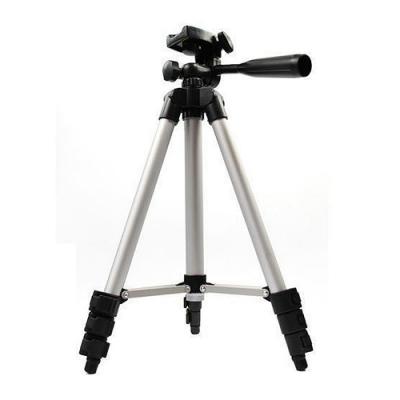 360度旋轉 相機/手機 兩用四節三腳架 相機三腳架 【含手機夾+收納袋】
