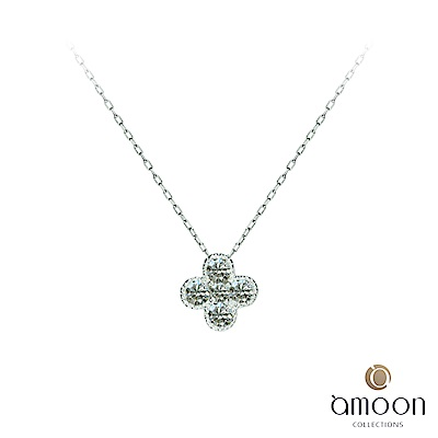 amoon 戀戀東京系列 美好 鉑金鑽石項鍊
