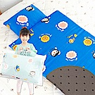 奶油獅-同樂會系列-可黏式收納100%純棉安親午睡記憶睡墊(含枕)-宇宙藍