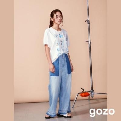 gozo 夏日假期趣味印花飛鼠造型上衣(二色)