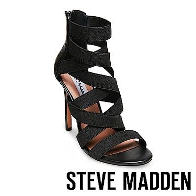 STEVE MADDEN-STRIVE時尚美型繃帶高跟涼鞋-黑色