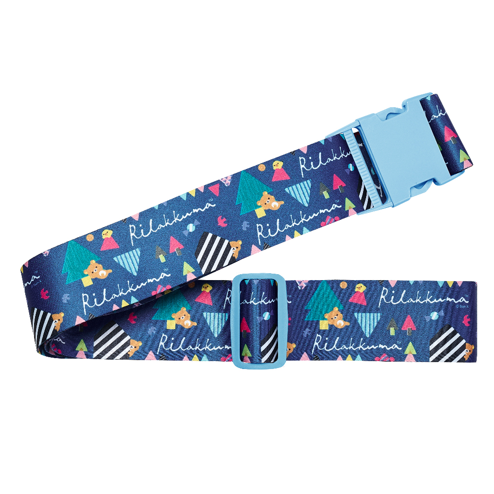 【Rilakkuma 拉拉熊】甜蜜拉拉熊 - 行李束帶(藍色森林)