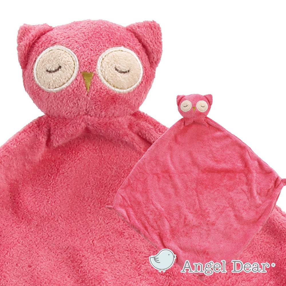 Angel Dear 動物嬰兒安撫巾 (粉紅貓頭鷹)