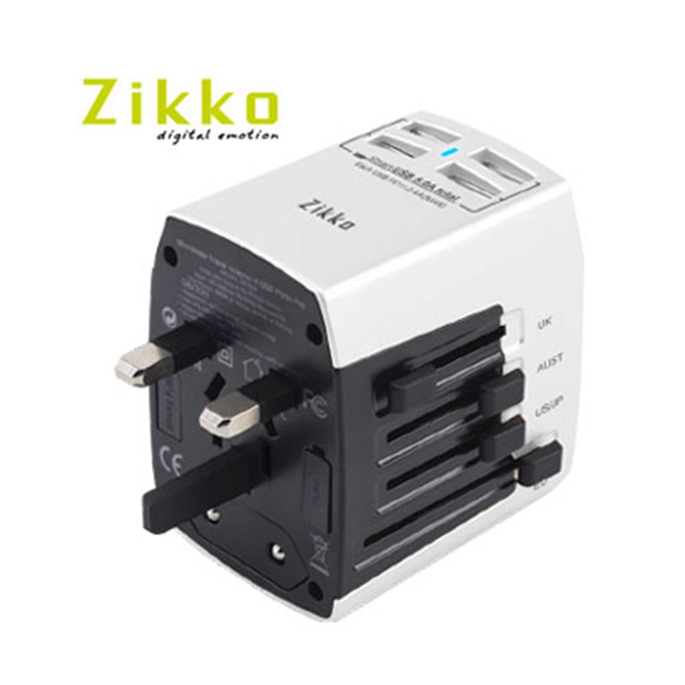 ZIKKO 4USB Port Pro 旅行插座