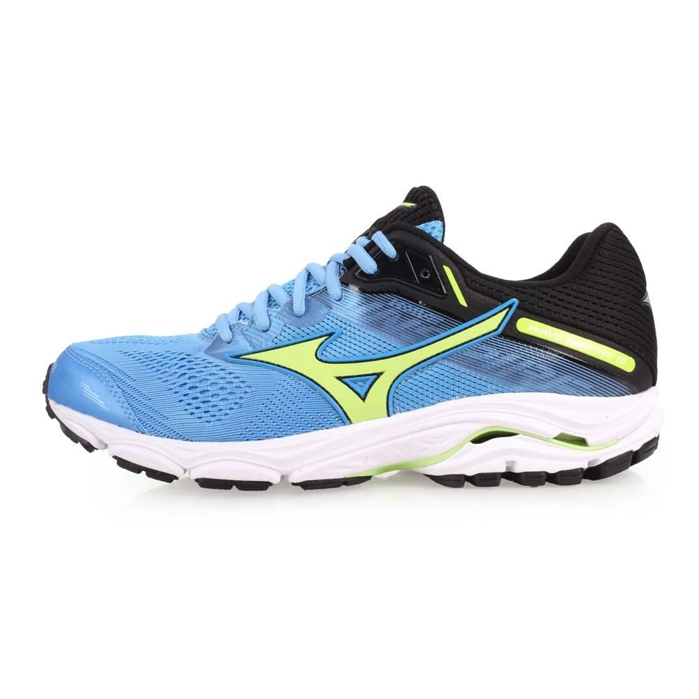 MIZUNO WAVE INSPIRE 15 男慢跑鞋-路跑  粉藍黑綠