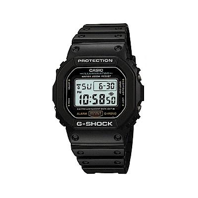 CASIO 卡西歐 G-Shock 軍事風格炫黑方形電子錶-黑/42.8mm