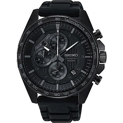 SEIKO精工 CS 重裝計時手錶(SSB327P1)-黑/44mm