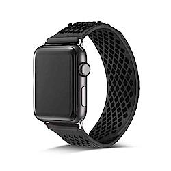 Apple watch網狀透氣矽膠無扣錶帶42mm