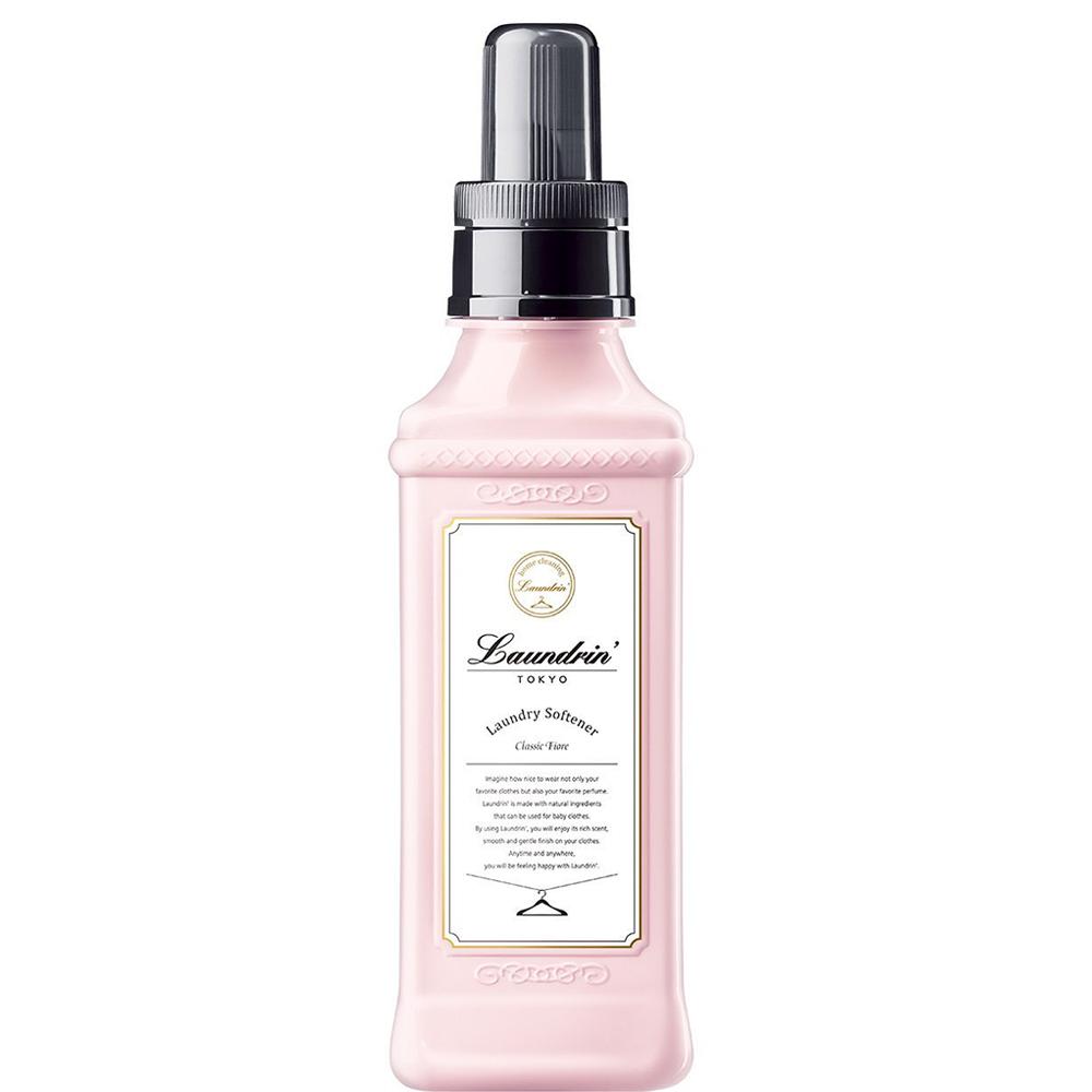 日本朗德林Laundrin香水柔軟精600ml-經典花蕾香