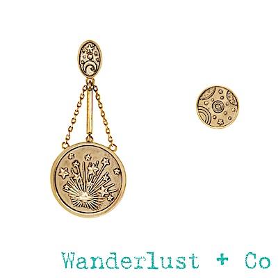 Wanderlust+Co宇宙不對稱耳環 - 金色