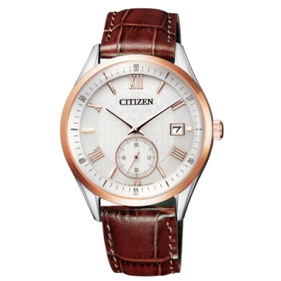 CITIZEN 經典小秒針光動能腕錶BV1124-14A