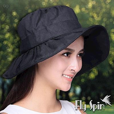 FLYSPIN 女款全棉精紡格織布可塑型淑女漁夫遮陽帽