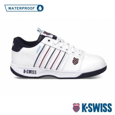 K-SWISS Eadall WP防水系列 復古老爹鞋-女-白/藍/紅
