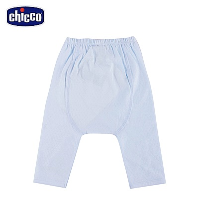 chicco-透氣素色初生褲-藍(3-6個月)