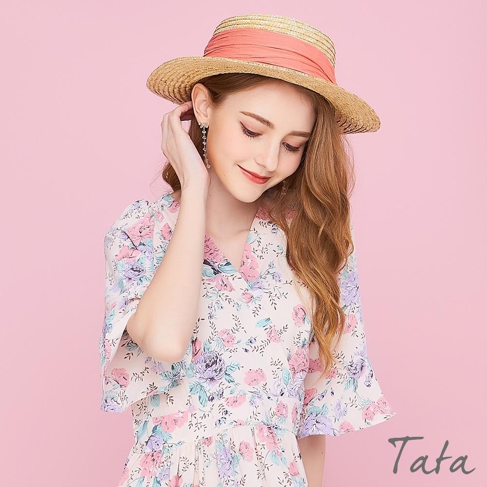 編織素色綁帶草帽 共四色 TATA