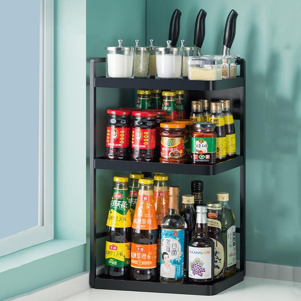 【HappyLife】廚房置物架27長3層配刀架 27×18.5×60CM