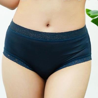 闕蘭絹簡約舒適40針100%蠶絲內褲-887902(藍)