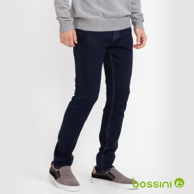 bossini男裝-四向彈貼身牛仔褲深藍