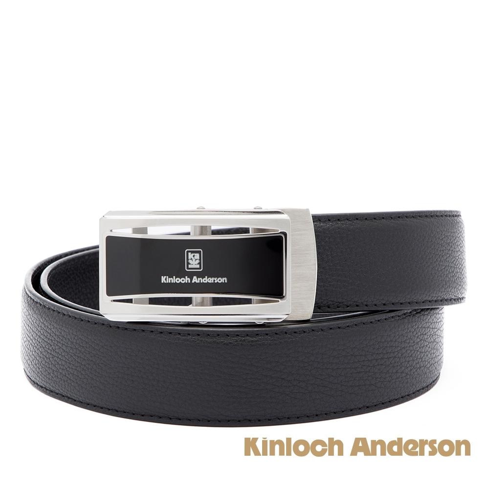 【金安德森】經典原色 黑膠帶頭自動釦皮帶-黑色
