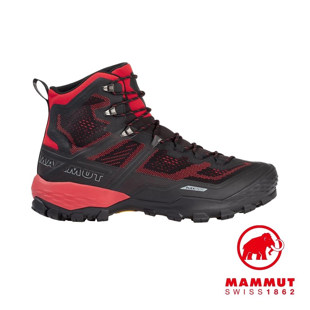 【Mammut 長毛象】Ducan High GTX 高筒登山鞋 黑/辛辣紅 #3030-03470