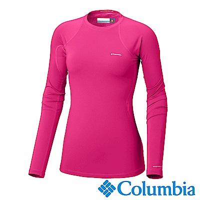 Columbia哥倫比亞 女款-Omni-HEAT保暖快排長袖上衣-桃紅色