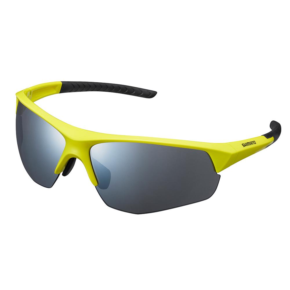 【SHIMANO】TWINSPARK 太陽眼鏡 萊姆黃色鏡框 (銀色煙燻鏡面鏡片)