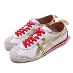 Onitsuka Tiger 休閒鞋 Mexico 66 復古 低筒 男女鞋 OT 鬼塚虎 經典 皮革 穿搭 情侶鞋 金 紅 1183A788102