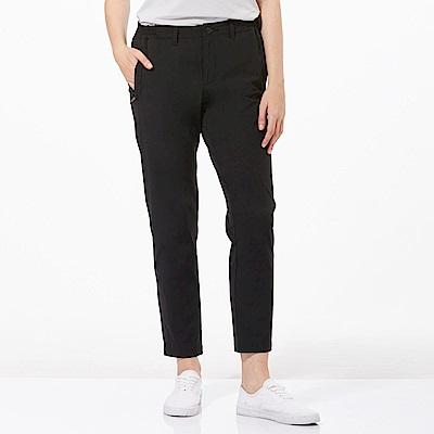 【HAKERS 哈克士】女 抗UV快乾彈性修身九分褲-黑色