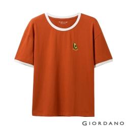 GIORDANO 女裝清新水果刺繡短袖T恤-30 夕陽紅色