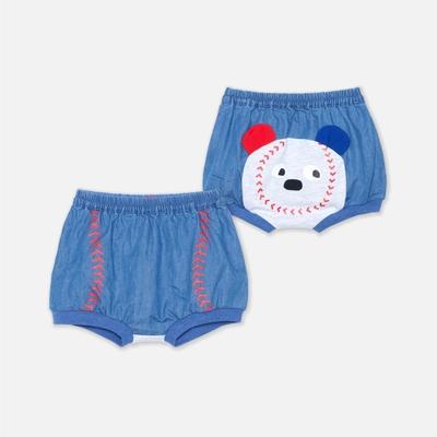 WHY AND 1/2 mini 棒球牛仔泡褲 6M ~ 3Y