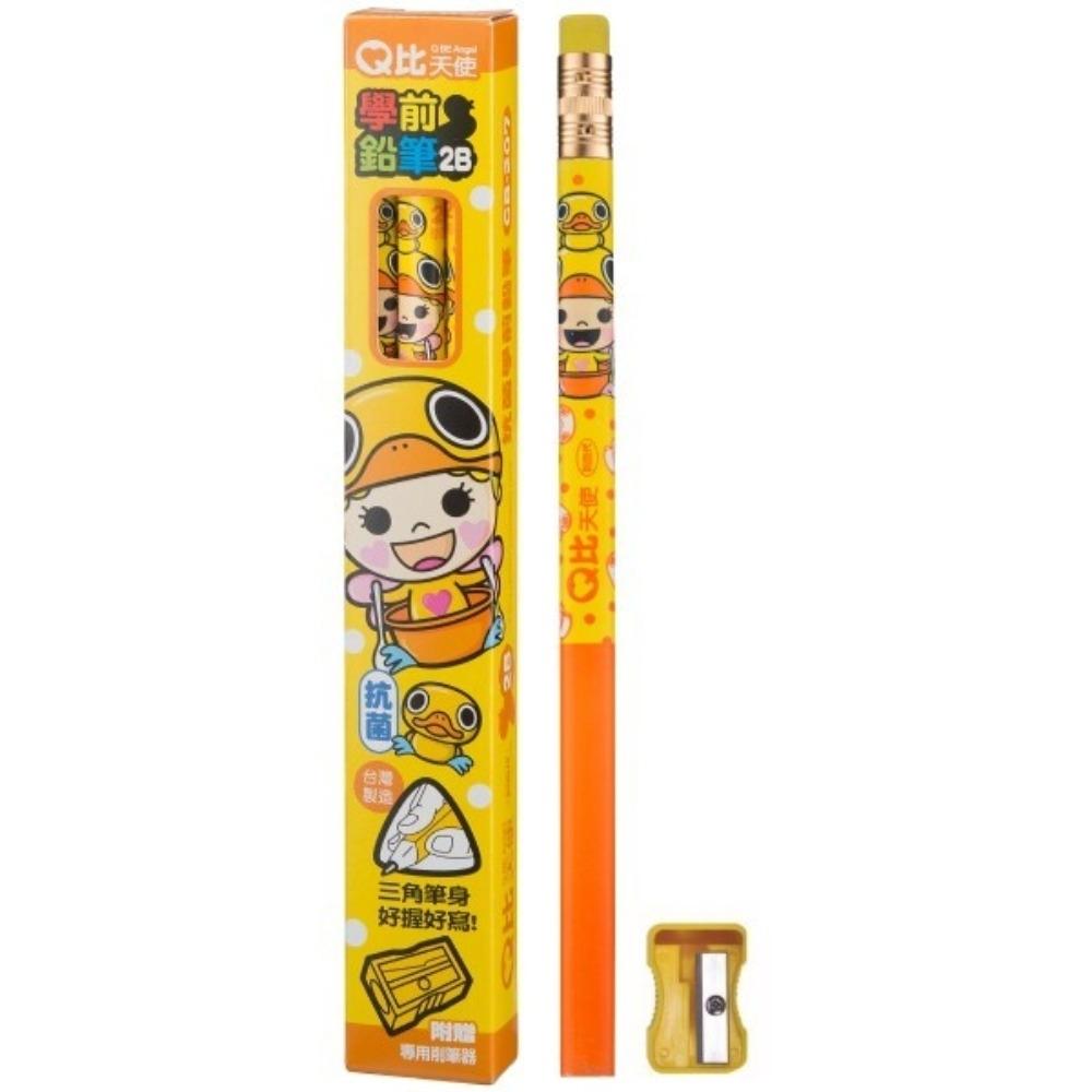 利百代 CB-207 Q比天使學前皮頭2B鉛筆(1盒3枝)