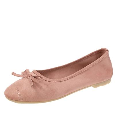 KEITH-WILL時尚鞋館 甜美玩色彈力豆豆鞋-粉紅色