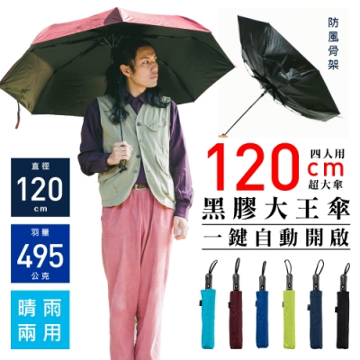 雙龍牌TDN 抗UV超大傘面防風晴雨傘/大王傘-樂嫚妮-(5色) [限時下殺]