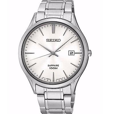 SEIKO 精工/ 典藏尊榮石英腕錶/黑/7N42-0FW0S