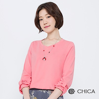 CHICA 糖果樂園蝴蝶結袖設計上衣(2色)