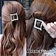 【2件7折】AnnaSofia 方扁型滿鑽 中型髮夾(經典黑) product thumbnail 1
