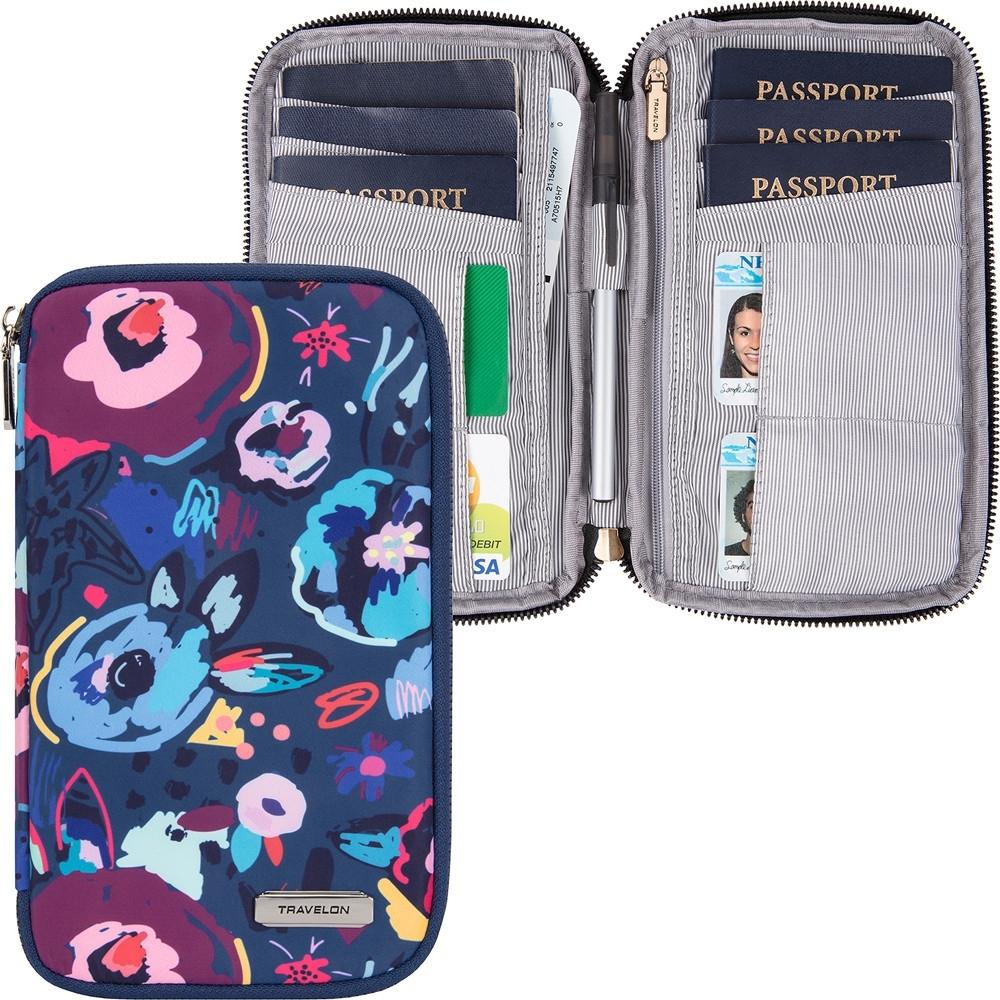 《TRAVELON》多功能旅遊護照包(花藝)