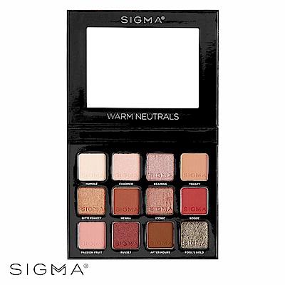 Sigma 12色暖色系眼影盤 13.32g Warm Neutrals