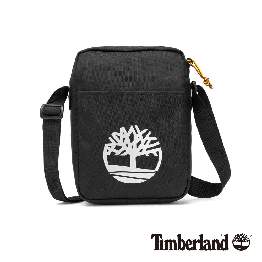 Timberland 中性黑色大樹標誌印花側背包|A1CV7